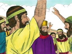 When Mordecai left the palace he was wearing a royal purple robe and crown. The Jews celebrated the news and their enemies became afraid of them. – Slide 11