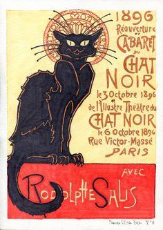Chat Noir by Maria Elisa Buzi (2015).