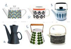 Vintage and modern scandinavian design inspired teapots - by design attractor
