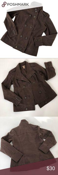 ea9298b01d107 Ruff Hewn Denim Jacket Brown Military Style