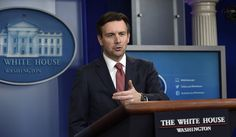 White House press secretary Josh Earnest: 10 Dec 2015. Earnest speaks about the visa program, the newly signed education bill, the transportation bill & Americans are buying more guns. (AP Photo/Susan Walsh)