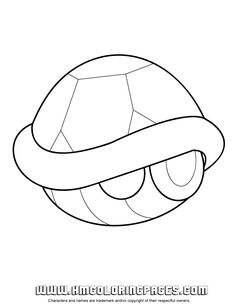 mario kart turtle shell coloring page h m coloring pages - Mario Kart Coloring Pages