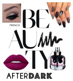 """""""Beauty After Dark"""" by catfashionsets on Polyvore featuring beauty, Lime Crime and Yves Saint Laurent"""