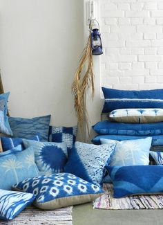 How many indigo pillows are too many? Asking for a friend.