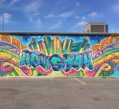 Downtown Houston mural wall. #graffiti