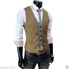 (ve34) Thelees para hombre Premium en capas estilo Slim Chaleco Cintura Abrigo