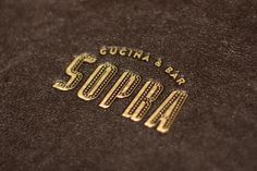 Menu design by Bravo Company for Sopra.