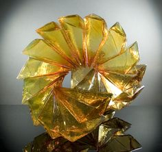 """Richard Royal  Golden Staircase, 2014 Geometric Series, Blown glass with adhesive 23 x 23 x 39"""""""