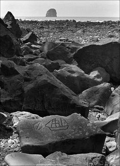 Wedding Rock Petroglyphs.  Ozette, ONP