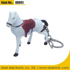 Promotional Horse LED Voice Keychain Flashlight | Doer Electronic the Animals Novelty Gadgets Supplier from China, Welcome to the World of Animals Fun.
