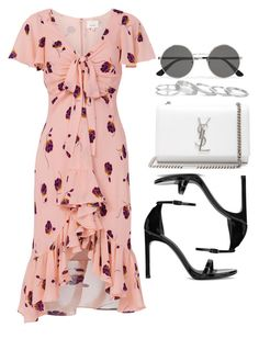 """#14793"" by vany-alvarado ❤ liked on Polyvore featuring Cinq à Sept, Yves Saint Laurent, Stuart Weitzman and Kendra Scott"