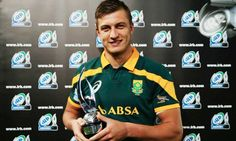 Junior Springbok Wins IRB Player of the Year Award International Rugby, Console, Awards, Polo Ralph Lauren, Schools, Mens Tops, African, Consoles, School