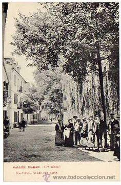 VALLE DE ARAN. Les. Camino de los baños. Sin circular. Edición francesa