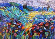 Картина из мозаики Тропический этюд