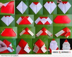 Mikołaj z origami - Kobieceinspiracje.pl na Stylowi.pl