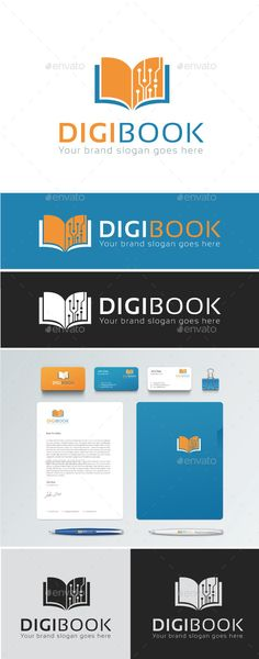 DIGITAL BOOK Logo Template, DIGIBOOK Logo is a logo suitable for many application & activities. It is made by simple shapes Although looks very professional, it shows a digital book that symbolizes virtual booking. Featured : AI CS3 Document EPS 10 Document CMYK ¨C 100 Vector (Re-sizable) Used Free Font (Link Included in help file)