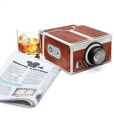 Smartphone Projector - (39.99$) Know more - Universal Mini Portable Cinema DIY Cardboard Smartphone Mobile phone Projector