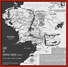 This is a very big Map of Middle Earth. This is the Map you will find most places to read Lord of the Rings and Bilbo.