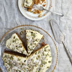 Spiced chai carrot cake recipe by Eleanor Ozich from My Petite Kitchen Cookbook and other cake recipes and baking ideas from Red Online Kitchen Recipes, Baking Recipes, Whole Food Recipes, Dessert Recipes, Baking Ideas, Yummy Recipes, Gluten Free Baking, Gluten Free Cakes, Gluten Free Desserts