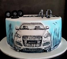 Birthday Cake For Him, Happy Birthday Gifts, Cake And Cupcake Stand, Cupcake Cakes, Cupcake Ideas, Fast And Furious Birthday, Cake Frosting Designs, Mechanic Cake, Car Cakes For Men