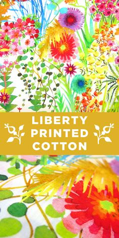 Colorful Bright Floral Liberty of London Cotton Lawn Print