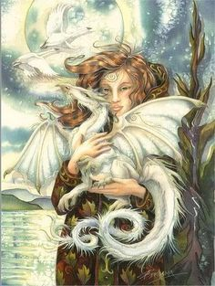 white winter dragon by jody bergsma