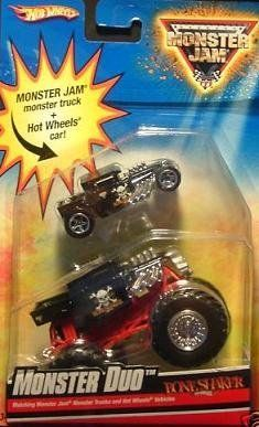 Hot Wheels Monster Jam Monster Duo Boneshaker, 1:64 Scale. by Mattel. $6.88. Monster Jam and Hot Wheels offered together in a cool 2 pack. 1:64 scale