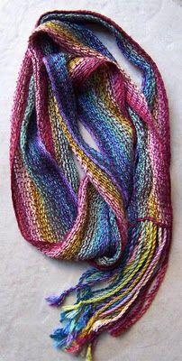 Rainbow Scarf (2007) Woven Tencel  sites.google.com