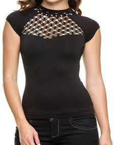 Seamless Fishnet Top