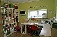 office - love the corner desk and huge bookcase