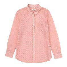 핑크 스몰 하트 프린트 셔츠