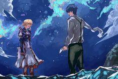 Couple Illustration, Illustration Art, Violet Evergarden Gilbert, Violet Evergarden Wallpaper, Manga Anime, Anime Art, Violet Evergreen, Violet Evergarden Anime, Romance Art