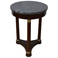 19th Century Empire Gueridon | From a unique collection of antique and modern gueridon at https://www.1stdibs.com/furniture/tables/gueridon/ next to sofa for a lamp