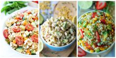 ~ 50 Pasta Salad Recipes You Need to Bring to Your Summer Potlucks.You'll love these flavorful twists on the classic, summer picnic dish. Easy Cold Pasta Salad, Easy Pasta Salad Recipe, Summer Pasta Salad, Summer Salads, Pasta Recipes, Dinner Recipes, Cooking Recipes, Healthy Recipes, Cocktail Recipes