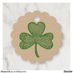 Shamrock Favor Tags  #shamrock #favor #tags