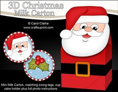 **COMING SOON** -  This lovely Christmas Santa Milk Carton Gift Box kit will be available here within 12 hours - http://www.craftsuprint.com/carol-clarke/?r=380405