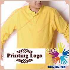 Custom Logo Embroidery Logo heat transfer print Polo Shirts For Men Long Sleeves 100% Cotton Tees Company Professional  Printing