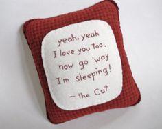 Cat Pillow Novelty Cat Bed Pillow My Spot My by ThePineappleCatz