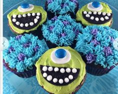 Monsters inc cupcakes for disney dinner night