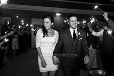 I Love Sparklers Bride and Groom Darcy and Chris too cute guys!