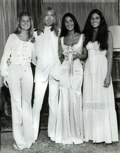 June 30, 1975 - Cher married Greg Allman four days after her divorcing Sonny Bono, the couple split after ten days, followed by a three year on and off marriage. •• #cher #gregallman #thisdayinmusic #1970s