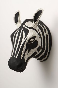 Zebra bust #anthropologie