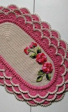 Crochet Kitchen Rug: Sets of Rugs and Walkthroughs – Newest Rug Collections Crochet Patterns Free Women, Crochet Flower Patterns, Crochet Mandala, Doily Patterns, Weaving Patterns, Crochet Flowers, Crochet Placemats, Crochet Doilies, Crochet Kitchen