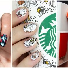 We love the fact that you can now get your fave pumpkin spice latte incorporated into your hair color, but what about the cup it comes in? Celebrate the famous fall Starbucks cup with a fun dotty design. Click through for more Thanksgiving manis. Fall Nail Art, Fall Nail Colors, Manicure Ideas, Thanksgiving Nail Art, Thanksgiving Ideas, Popular Nail Colors, November Nails, Nail Tutorials