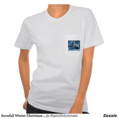 Snowfall Winter Christmas Tree Shirts