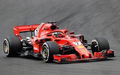 Télécharger fonds d'écran Kimi Raikkonen, 4k, chemin de câbles, Ferrari SF71H, 2018 voitures, la Scuderia Ferrari, circuit de course, Formule 1, la nouvelle ferrari f1, F1, nouveau cockpit protection, HALO, SF71H, Ferrari, Ferrari 2018