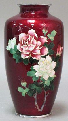 searchresult Porcelain Jewelry, Fine Porcelain, Porcelain Ceramics, Painted Porcelain, Hand Painted, Japanese Vase, Japanese Porcelain, Keramik Vase, Metal Vase