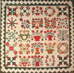 Baltimore Album Quilt, 1849. Made foe Mary Caroline Pattison. Baltimore Co, Maryland.