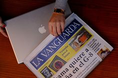 Newspaper Camouflage Anti Theft Laprtop Case, not sure it's worth $80.00 but it is a cool idea!