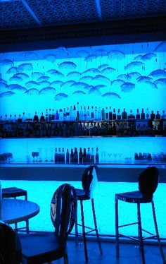 True blue, The Jetty Lounge - One and Only Royal Mirage, Dubai, United Arab Emirates